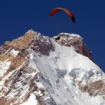 Flying near Masherbrum summit, glider Sinergy 5 from SOL