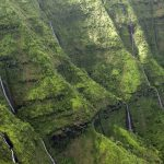 Kauai Napali Coast Waterfalls wall heli shot by Stefan Iliev