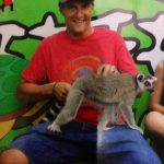 Finally get to meet my be loving animal the Lemur from Madagascar  the environment was not the best so he was nervous :)