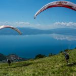 Ohrid Lake road access take off