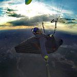 The returning firts flight final glide near Piripiri